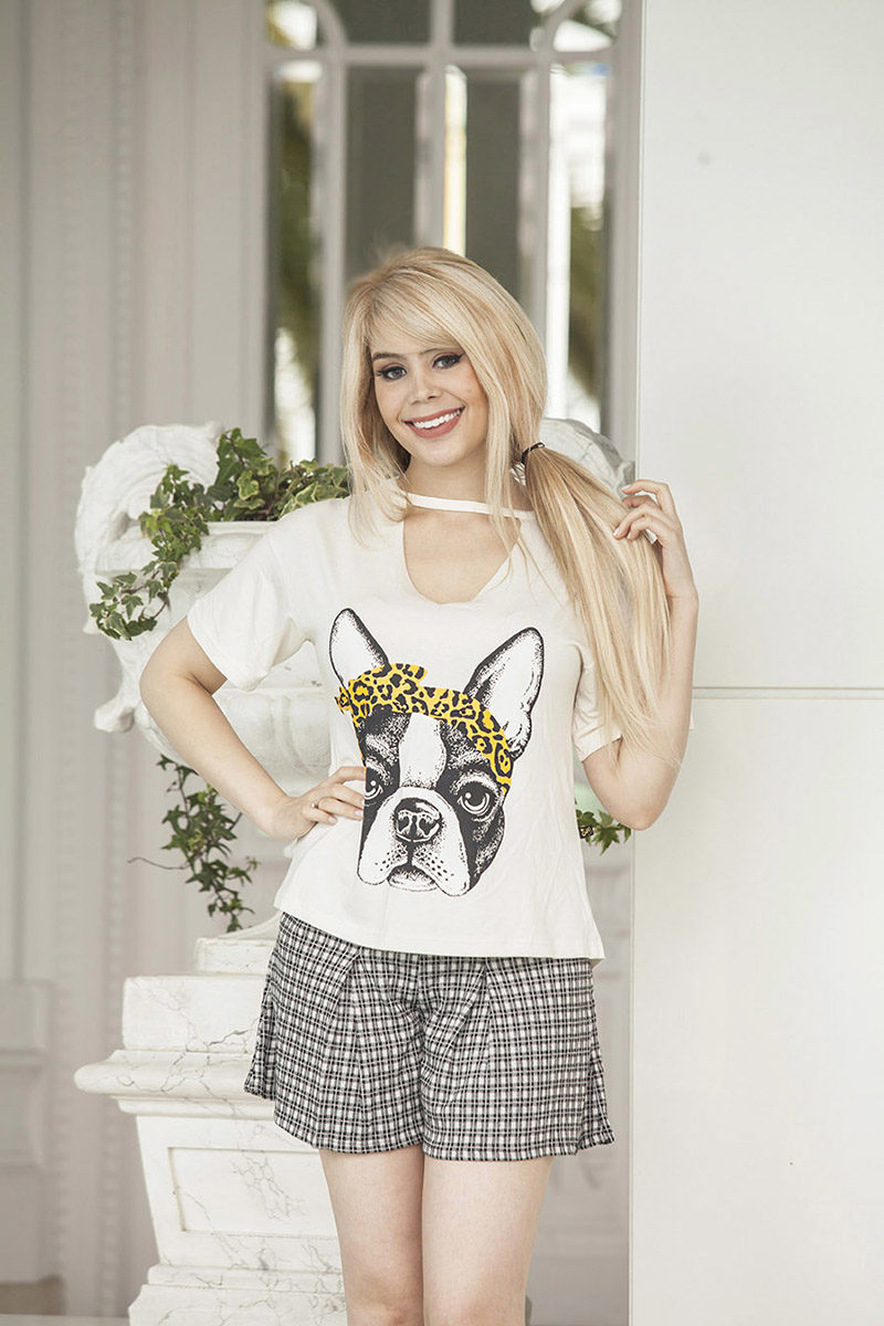 T-shirt Chocker Estampada Dog | Compre Agora na Anna Waff Collection