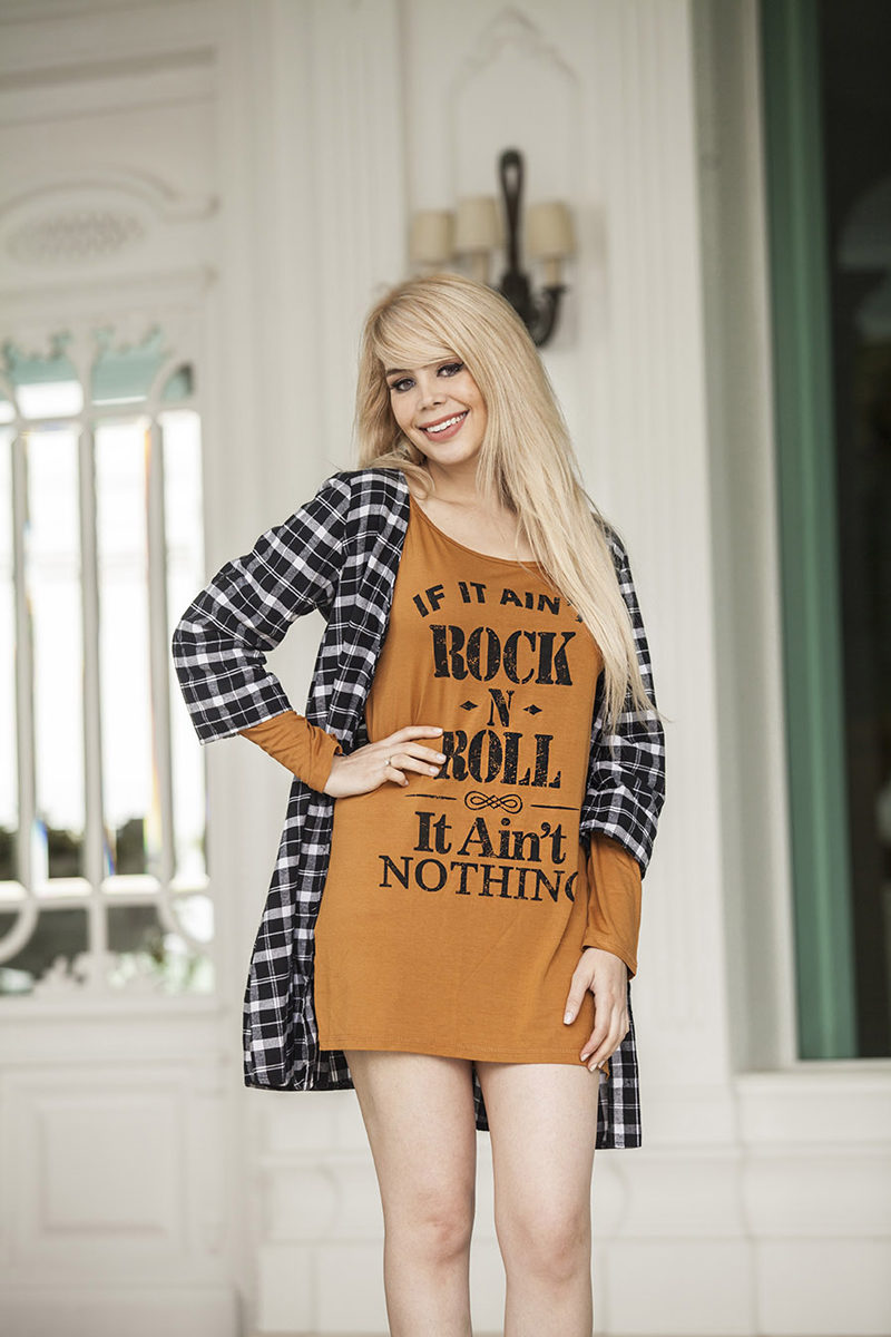 Vestido Blusão If Aint Rock and Roll It Aint Nothing | Compre Agora na Anna Waff Collection